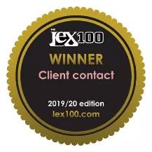 LEX100 Winner Client Contact 2019/2020